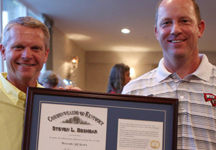 Brohm Named Kentucky Colonel, The Commonwealth's Highest Civilian Honor