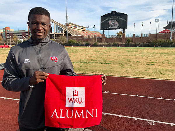 Olympic competitor Emmanuel Dasor ('17) hopes to inspire others both on and off the track
