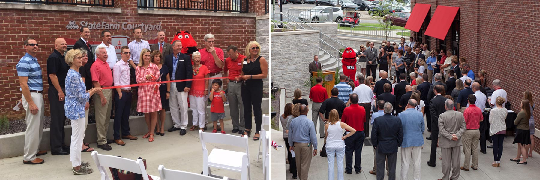 WKU Dedicates State Farm Courtyard